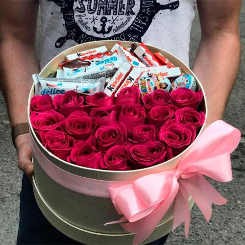 19 роз, Киндер шоколат