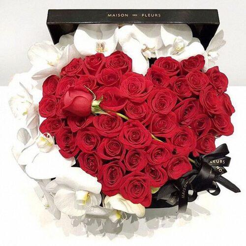 45 роз, орхидея